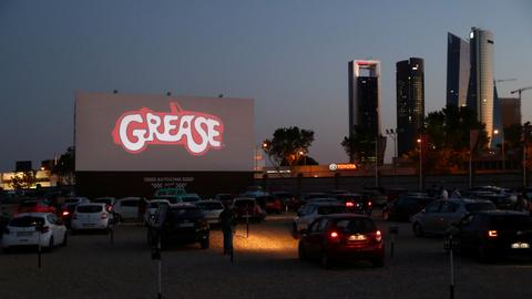 'Grease' kicks off Madrid summer nights at drive-in cinema