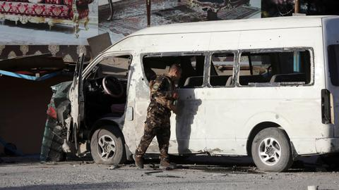 Bomb in Afghan capital targeted TV bus, two dead – official