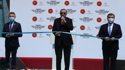 Erdogan says Turkey 'prevented' spread of pandemic as new hospital opens
