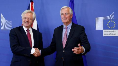 Britain, EU begin historic Brexit talks