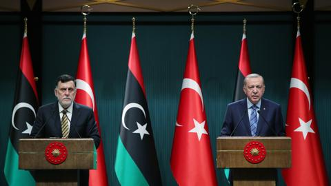 Erdogan says Turkey to increase support for Libya's Sarraj