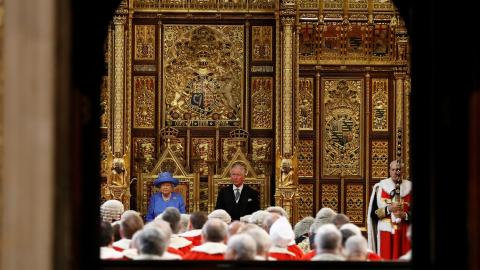 Queen Elizabeth II opens parliament in a Britain dealing with Brexit
