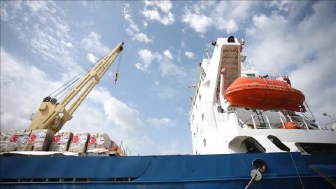 Turkish aid ship for Gaza Strip arrives at Israeli port