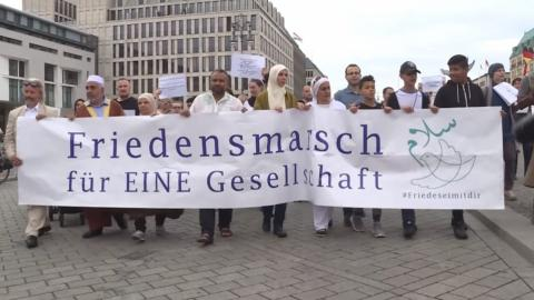 Muslims rally for peace in Berlin