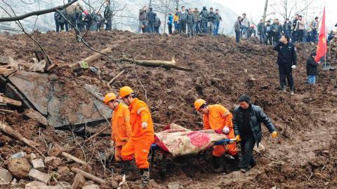 Over 120 people missing as landslide hits China village