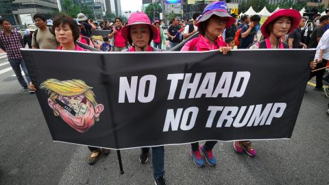 Thousands in South Korea march against deployment of US missile system