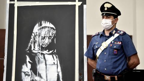 France arrests six over stolen Banksy artwork honouring Bataclan victims