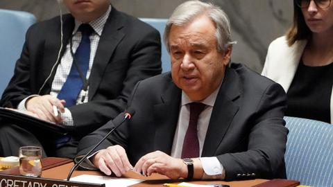 UN's Guterres tells Haftar there is no military solution to Libyan conflict
