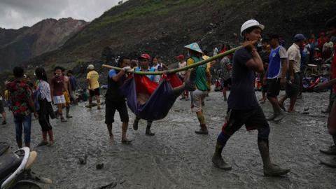 Dozens killed in deadly mudslide at Myanmar jade mine