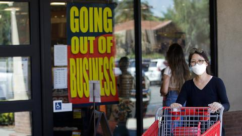 US unemployment rates fall, but new shutdowns cause concern