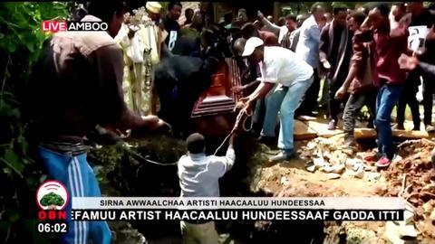Police block mourners from Ethiopian singer Hachalu Hundessa's funeral