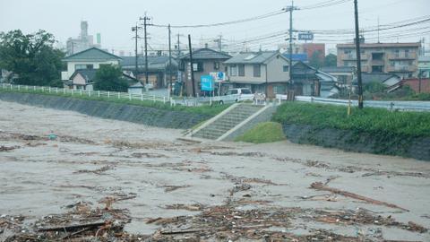 Heavy rain floods southern Japan, several feared dead