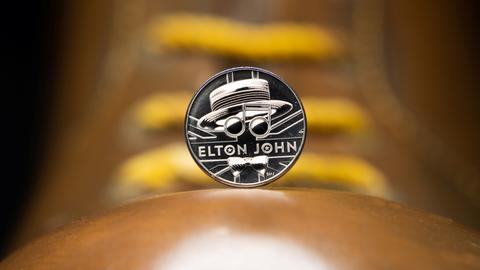 UK's Royal Mint celebrates singer Elton John with new commemorative coin