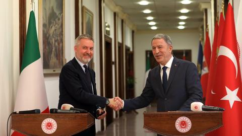 Turkish, Italian defence chiefs hold 'constructive' talks