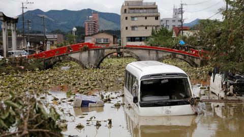 Devastating Japan floods kill dozens