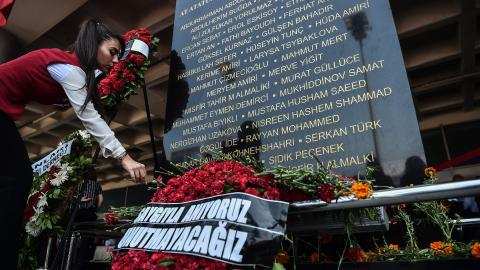 Turkey remembers Istanbul airport attack victims with memorial