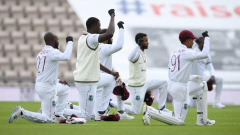 England, West Indies take a knee in support of Black Lives Matter movement