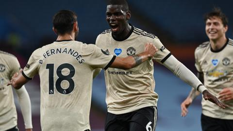 Man United ease to another win at struggling Villa