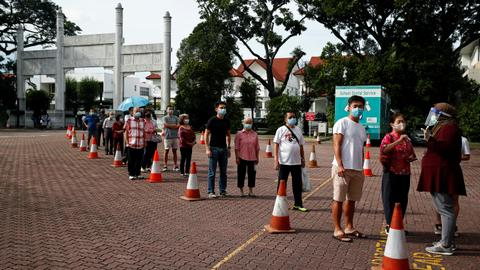 Singaporeans go to polls amid virus pandemic