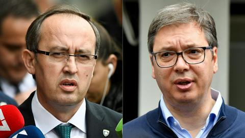 Serbia, Kosovo begin 'difficult' talks under France, Germany eyes