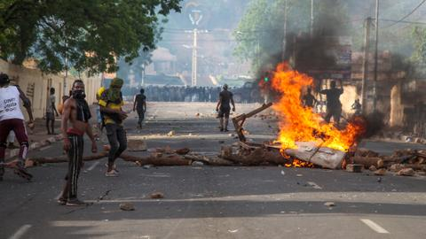One dead as protest against Mali president turns violent