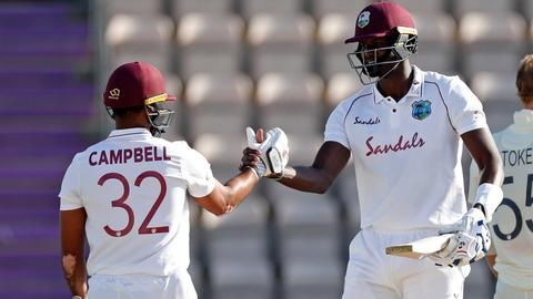 West Indies beat England by four wickets as international cricket returns