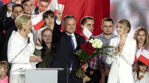 Poland's President Duda wins second term amid looming battles with EU