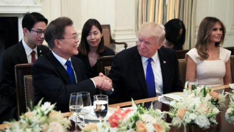 S Korea's Moon lobbies US to back policy of engagement with N Korea