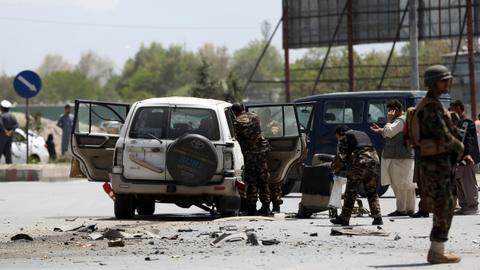Two roadside blasts hit Afghanistan as violence spirals