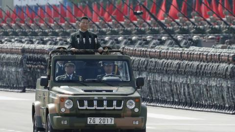 Xi Jinping inspects military parade in Hong Kong on 20th anniversary