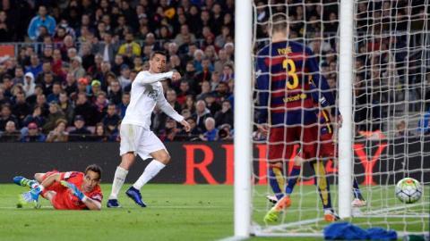Ronaldo strikes to finish Barcelona's unbeaten run