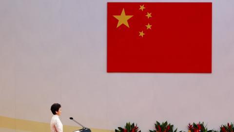 China's Xi swears in Hong Kong's new leader