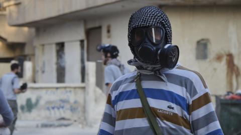 Syrian regime blamed for chlorine gas attack on rebels