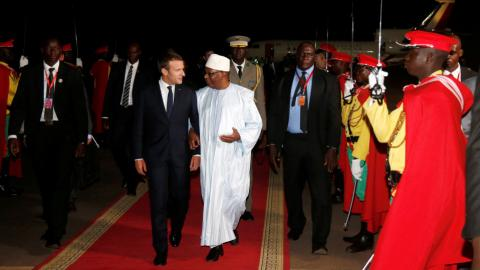 Macron touches down in Mali for anti-terrorism conference