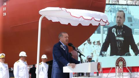 Erdogan says Turkey to build aircraft carriers