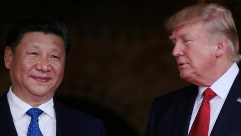 Trump discusses North Korea threat with China and Japan