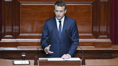 Macron delivers controversial address in Versailles
