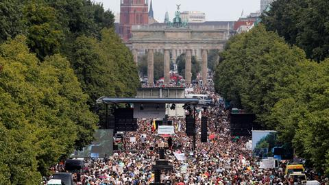 Thousands protest in Berlin against Covid-19 restrictions – latest updates