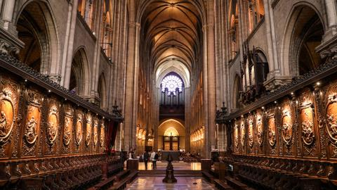 Restoration work begins on Notre Dame Cathedral's fire-damaged organ