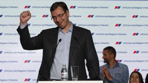 Serbian PM Vucic claims victory in general election