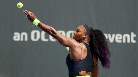 Serena William's winning return to tennis after Covid-19 hiatus