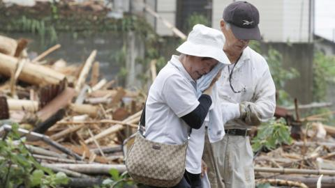 Flooding in south Japan kills at least three