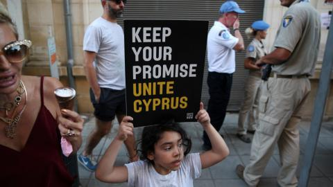 UN chief and US vice president urge Cyprus to seal reunification deal