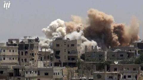 Regime forces break ceasefire by bombing southern Syria