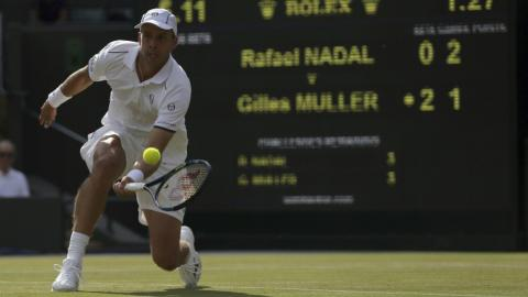 Gilles Muller sends Rafael Nadal tumbling in five set thriller