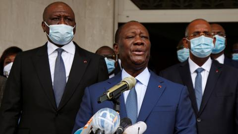Ivory Coast's president granted permission to run for third term in office