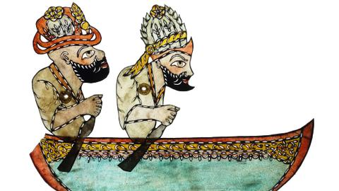 Turkish traditional shadow puppets come back to life during pandemic