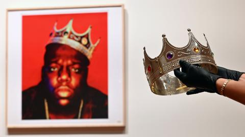 Notorious B.I.G. plastic crown sells for $600K at Sotheby's hip-hop auction