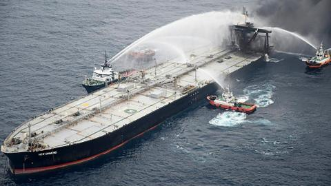 Captain of stricken New Diamond tanker faces charges in Sri Lanka