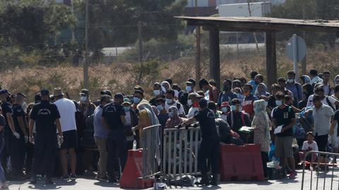 Greece moves Moria refugee and migrants to temporary new camp